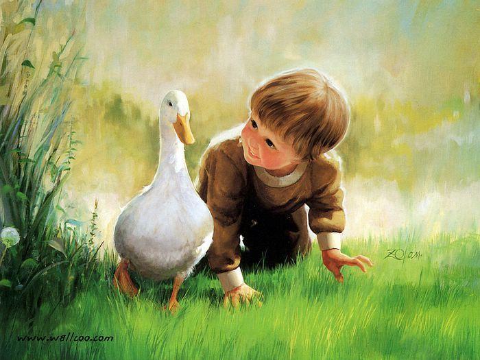 Enfant canard